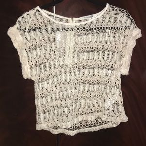 Cream Lace crop Top. Size Small. Forever 21
